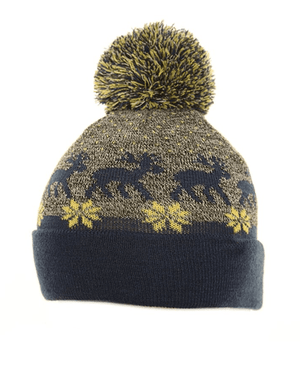 Evercreatures - Adult Rudy Reindeer Bobble Hat - Blue