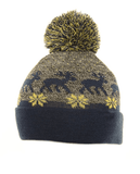 Adult Rudy Reindeer Bobble Hat - Blue