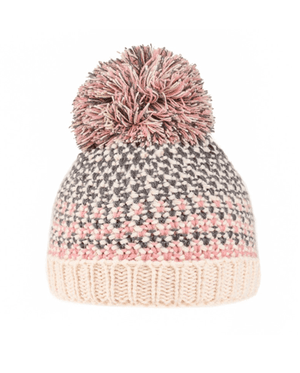 Girls Tiana Knitted Bottle Hat - Grey