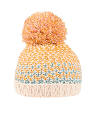 Girls Tiana Knitted Bottle Hat - Mustard