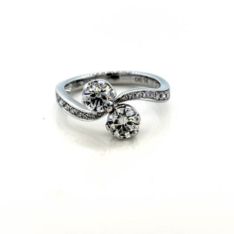 Two and three stone engagement rings