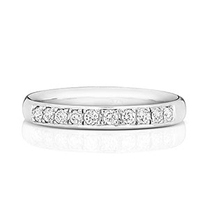 ladies diamond set wedding ring