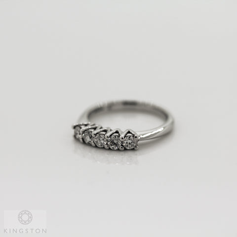 9ct White Gold Five Stone Diamond Ring