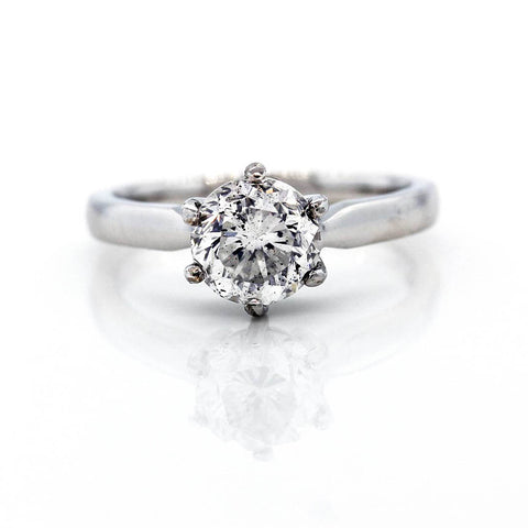 18ct White Gold 1.70ct Diamond Solitaire  Ring