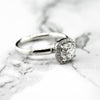 Bellissimo 18ct White Gold Ladies Halo lab Diamond Ring