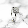 18ct White Gold Ladies Halo Diamond Ring