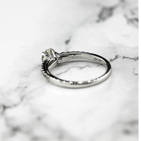 Beautiful 18ct White Gold Diamond Solitaire Ring