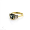 18ct Yellow And White Gold Tanzanite And Diamond Three Stone Ring 1.75ct