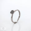Ladies 18ct White Gold  Diamond Solitaire Ring