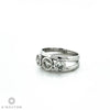 18ct White Gold Three Stone Diamond Modern Design Ring