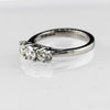 18ct White Gold Diamond Three Stone Ring 1ct