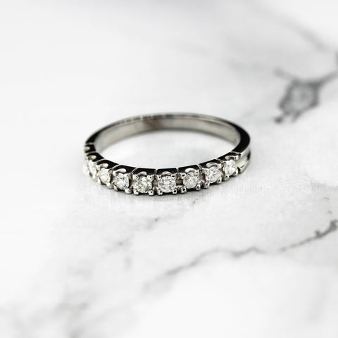 Platinum Diamond Nine Stone Eternity Ring