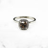 14ct White Gold Chocolate Diamond Halo Ring 1.20ct