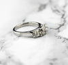 18ct White Gold Diamond Trilogy Ring 2ct Second Hand