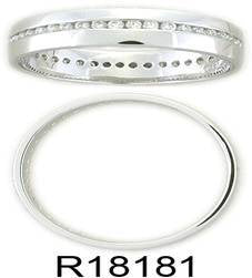 Platinum Full Diamond Band Set With Brilliant Cut Diamonds