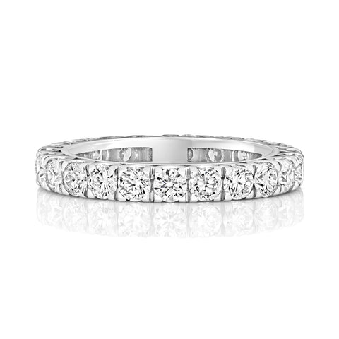 18ct White Gold Ladies full diamond band Wedding Ring