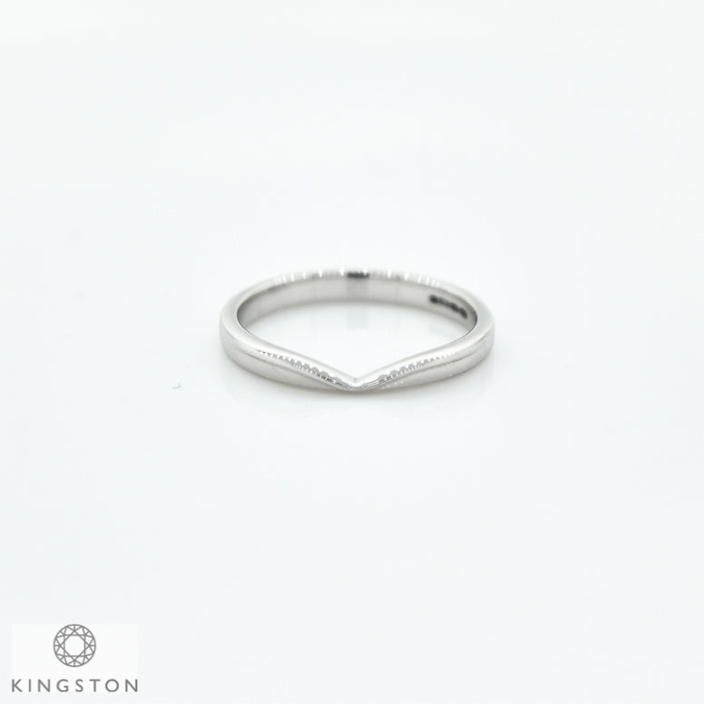 Platinum Plain Shaped Wedding Ring