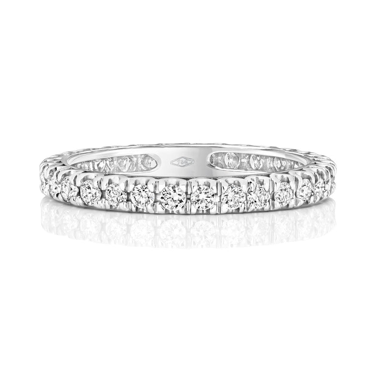 18ct white gold Ladies Claw Set 2.5mm White Gold Wedding Ring