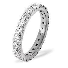 Ladies Full Diamond Band Set With Brilliant Cut Diamonds