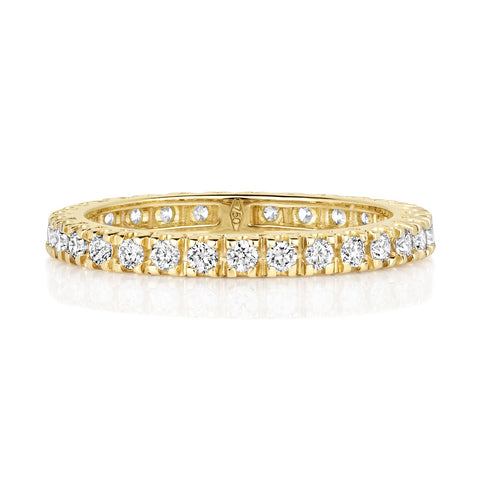 18ct Yellow Gold Ladies 100% Claw Set 2.5mm Weding Ring