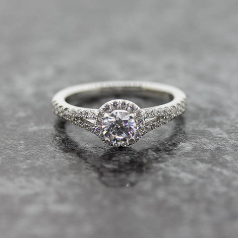 Ladies Bellissimo Halo lab Diamond Engagement ring