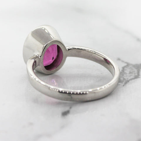 Ladies Pink Tourmaline Ring