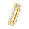 9ct Yellow Gold Diamond Set Wedding Ring