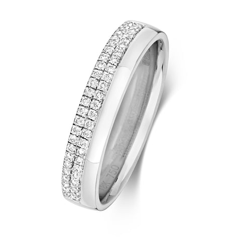 18ct White Gold Diamond-Set Wedding Ring