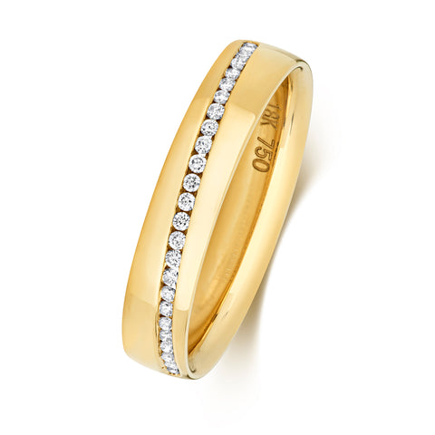 18ct Yellow Gold Diamond-Set Wedding Ring RDQ729