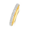 9ct yellow gold ladies diamond set wedding ring
