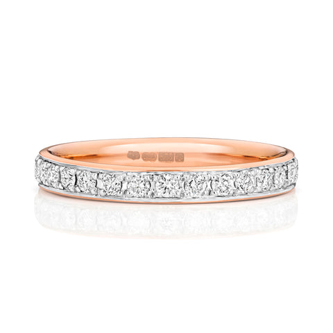 ladies diamond rose gold wedding ring