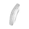 18ct White Gold Grain Set Wave Wedding Ring