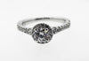 ALTR CREATED DIAMONDS, CVD LADIES HALO ENGAGEMENT RING, WHITE GOLD LAB DIAMONDS , DIAMOND RING , CHEAPEST LAB DIAMOND RINGS