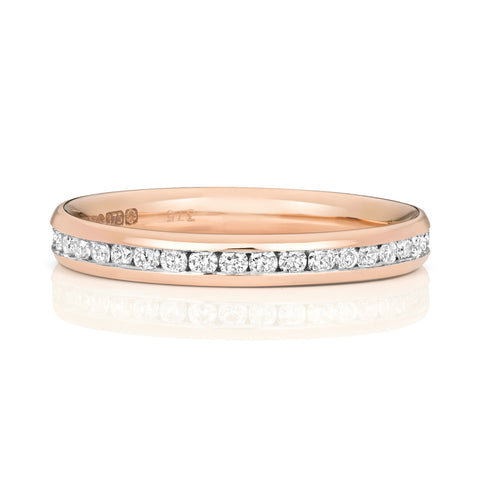 ladies diamond rosegold wedding ring