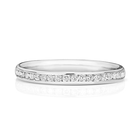 9ct white  gold ladies  diamond wedding ring