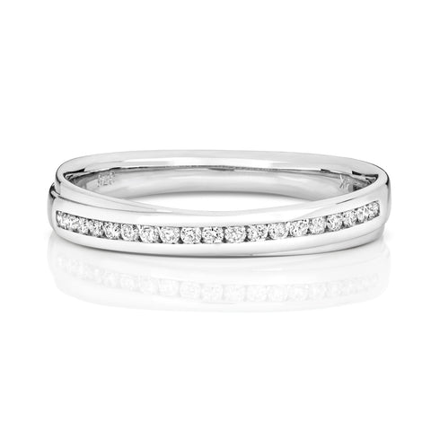 ladies diamond white  gold wedding ring