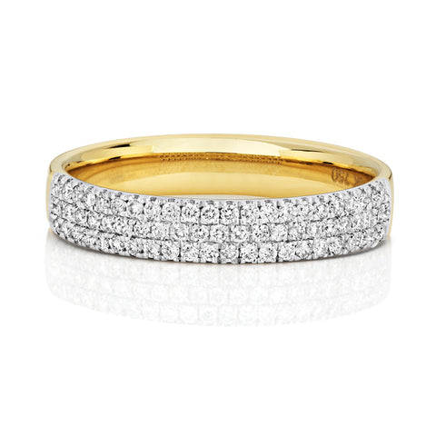 18ct Yellow Gold Diamond-Set Wedding Ring