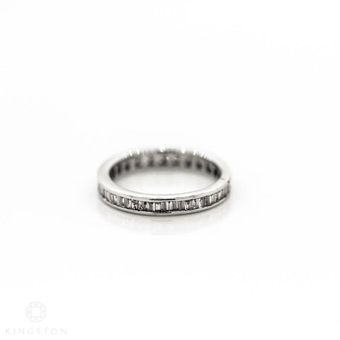 18ct White Gold Ladies Full Diamond Band Set Ring