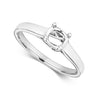 9ct white Gold Ladies  lab diamond Trefoil Solitaire Ring