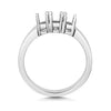 Gracie 18ct white Gold Ladies Trilogy lab Diamond Ring