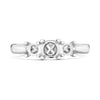 Ladies  Platinum Trilogy Nova  lab Diamond Ring
