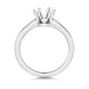 Karina Ladies 18ct white Gold six  claw modern  lab Diamond Solitaire Ring