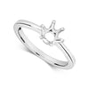 Platinum Ladies  six  claw modern  lab Diamond Solitaire Ring