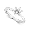 Florina Ladies 18ct white Gold six  claw high set Diamond Solitaire Ring