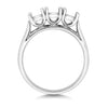 Millie 18ct white Gold Ladies Trilogy Nova  lab Diamond Ring