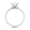 Clarra Ladies 18ct white Gold six  claw traditional  Nova  lab Diamond Solitaire Ring