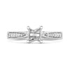 Ladies Nova  lab diamond solitaire ring with accented diamond shoulders