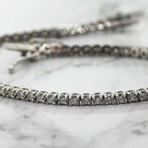 Ladies 18ct white Gold 2.50ct Diamond Tennis Bracelet