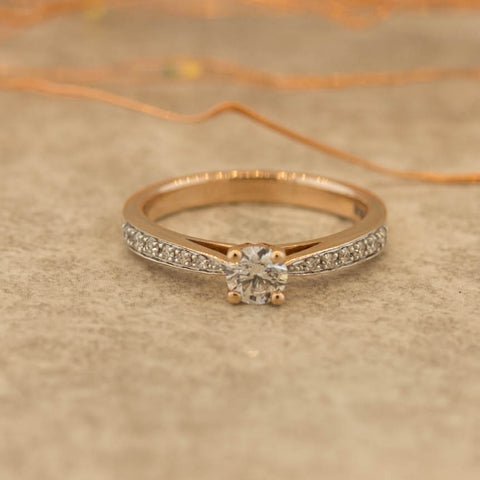 Ladies Rose Gold Nova lab Diamond Collection Diamond Ring