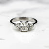 18ct white Gold Ladies Diamond Three Stone Ring